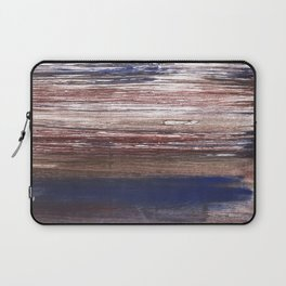 Brown blue abstract Laptop Sleeve