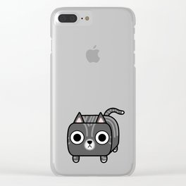 Cat Loaf - Grey Tabby Kitty Clear iPhone Case