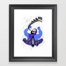 SkeletOrgasm Framed Art Print