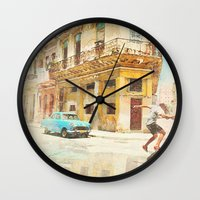 rio Wall Clocks featuring RIO by Nechifor Ionut