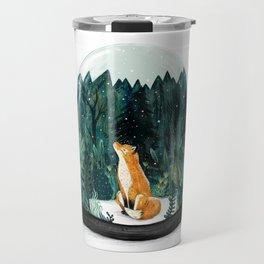 Snow Globe Fox Travel Mug