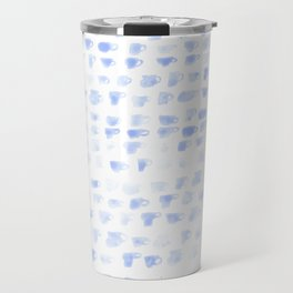 Blue Tea Cups Travel Mug