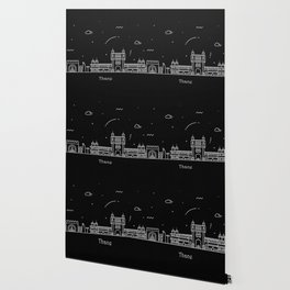 Thane Minimal Nightscape / Skyline Drawing Wallpaper