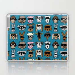 Ninja Animal Gang - Blue Laptop & iPad Skin