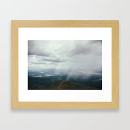 Hail Over the Sawatch Framed Art Print