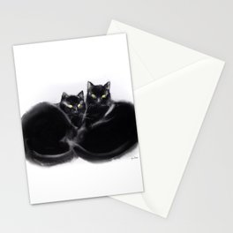 Cats together Stationery Cards
