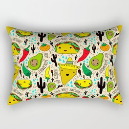 Kawaii Fiesta Rectangular Pillow