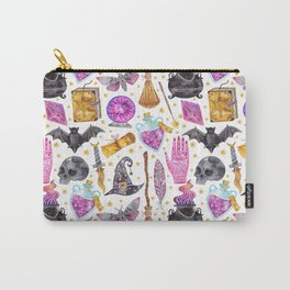 Pink gold black watercolor hand painted halloween pattern Carry-All Pouch