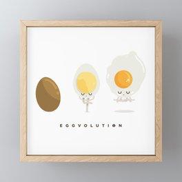 Eggvolution Framed Mini Art Print