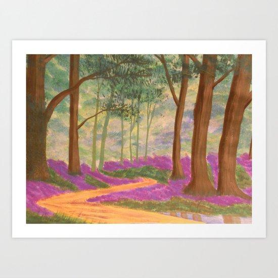 Bluebell Pathway Art Print