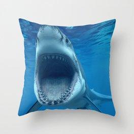 megalodon Throw Pillow