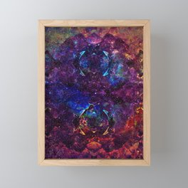 Rainbow Aura Quartz NebulÆ Framed Mini Art Print