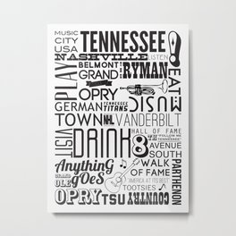 Nashville, Tennessee Metal Print