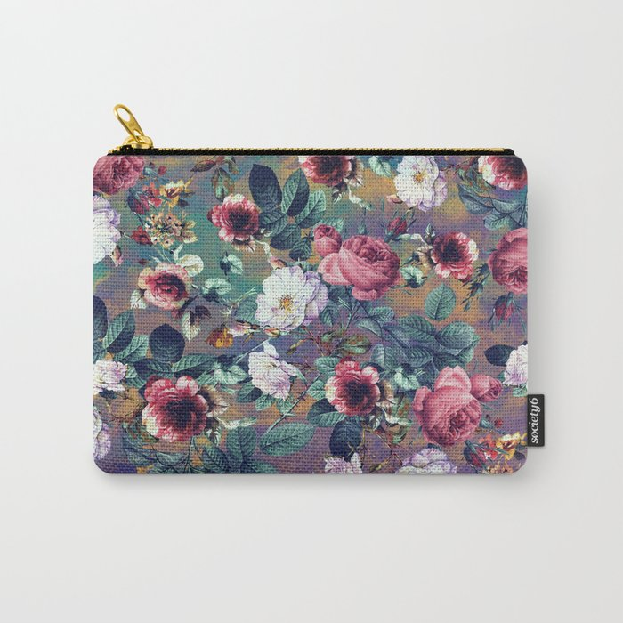 RPE Seamless Floral IV Carry-All Pouch