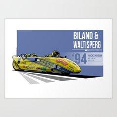 Rolf Biland & Kurt Waltisperg - 1994 Hockenheim Art Print
