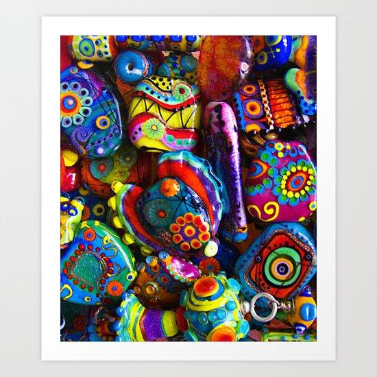 GlassART by me Art Print