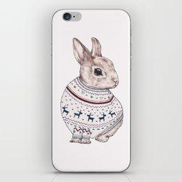 sweater rabbit iPhone Skin