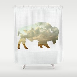 Bison and Plains Shower Curtain