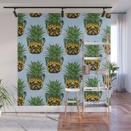 Pineapple French Bulldog Wall Mural