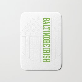 Baltimore Irish prints by Howdy Swag graphic Bath Mat