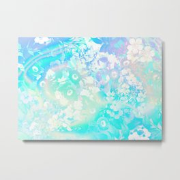 Floral Dream Pastel Hologram Metal Print