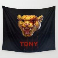 tony stark Wall Tapestries featuring Tony by mmxart