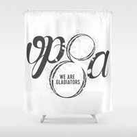 scandal Shower Curtains featuring Scandal - Olivia Pope & Associates by linebyline