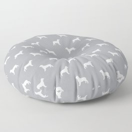 English Springer Spaniel dog breed pet art dog silhouette unique dog breeds grey and white Floor Pillow