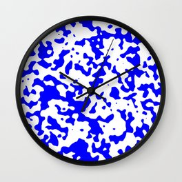 Spots - White and Blue Wall Clock