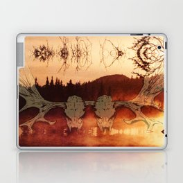 Atmospheric Black Metal SpiriT of the NortH Moose SkuLL and Lake Laptop & iPad Skin