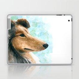 Rough Collie dog Laptop & iPad Skin