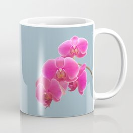 Orchids Photo to Paint on Blue Coffee Mug