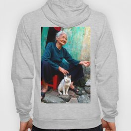 Old Woman with Cat - VIETNAM - Asia Hoody