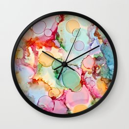 Rainbow Bubbles Wall Clock