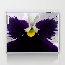 Watercolor of a white and purple pansy  Laptop & iPad Skin