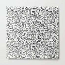 Eye Lash Metal Print