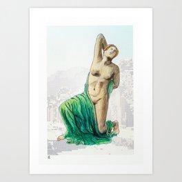 Dying Daughter of Niobe in Pompeii Art Print