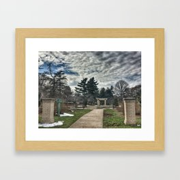 Rose Garden at Vander Veer Park Framed Art Print