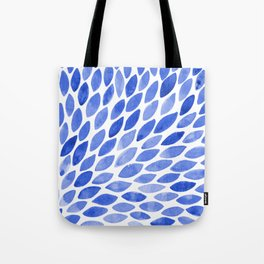 Watercolor brush strokes burst - electric blue Tote Bag