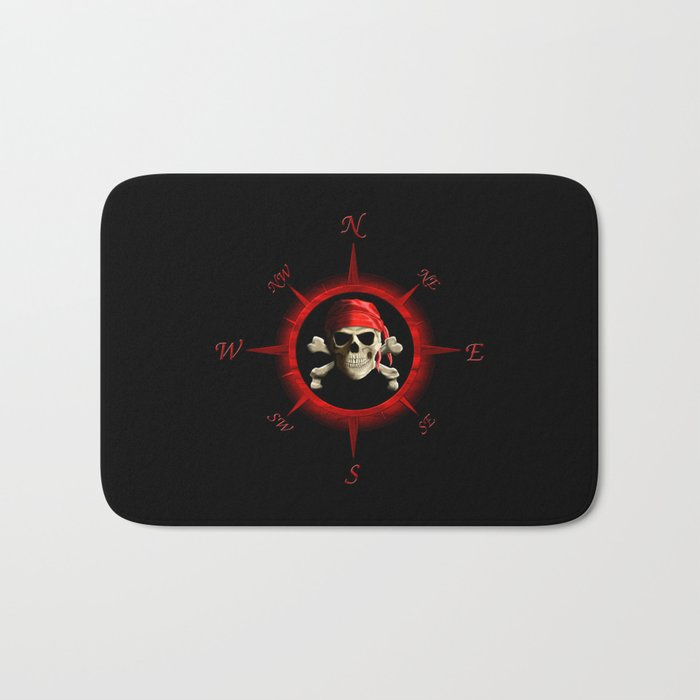 Pirate Compass Rose Bath Mat