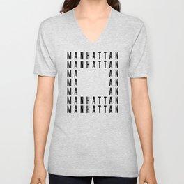Manhattan NYC Unisex V-Neck