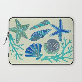 Blue Seashells Laptop Sleeve
