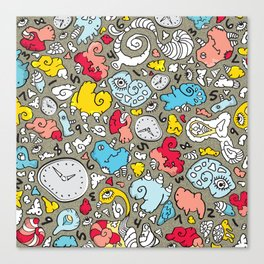 PLAYTIME_A GREY BACKGROUND Canvas Print