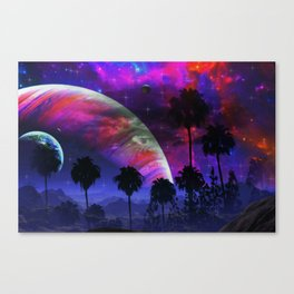 Palm Planet Canvas Print