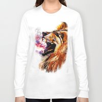 fierce Long Sleeve T-shirts featuring Fierce by NicoleFaye