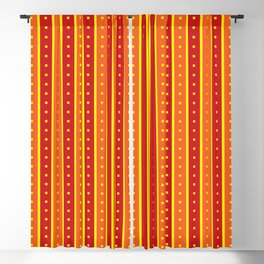 Stripes Pattern 205 (orange red) Blackout Curtain