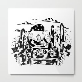 Cactus lunch Metal Print