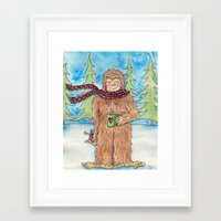 bigfoot Framed Art Prints featuring Bigfoot by Jennifer Weger