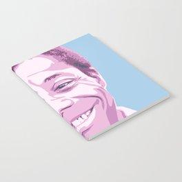 James Baldwin Portrait Blue Purple Notebook