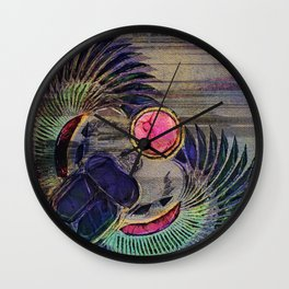 Egyptian Scarab Beetle Abstract on canvas Wall Clock